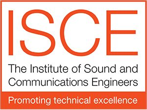 ISCE logo: fully qualified audio visual